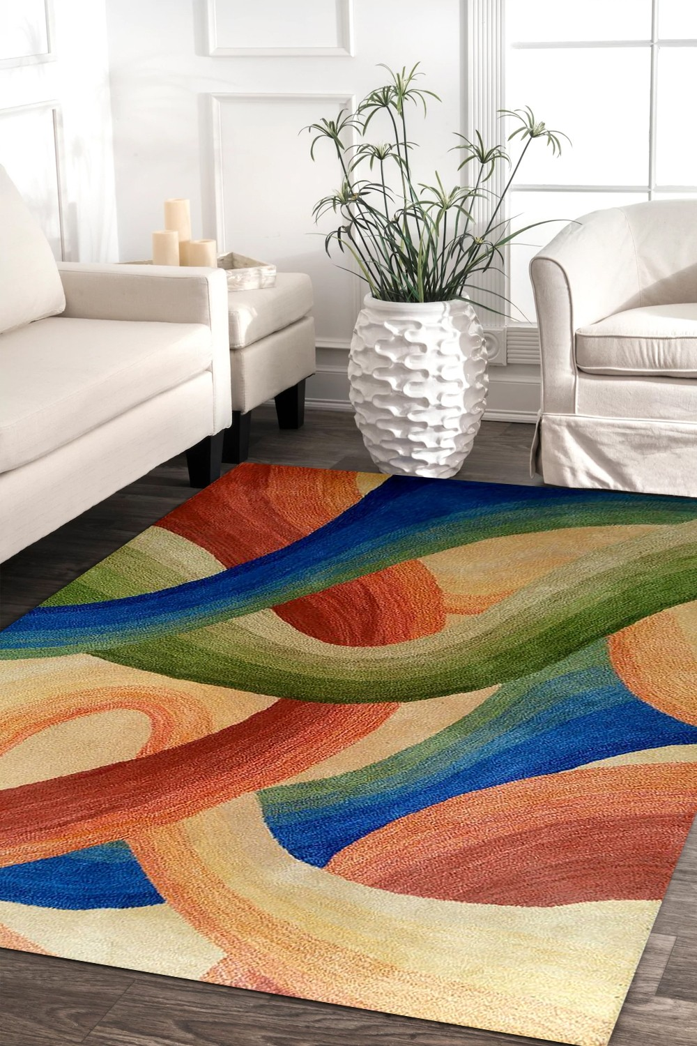 Shop Beautiful Abstract Art Modern Hand Tufted Carpet Online