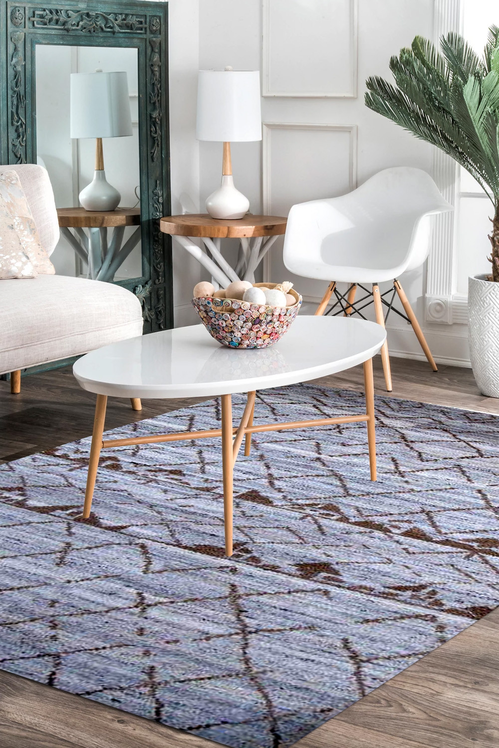 Comfort Hand Knotted Moroccan Wool Area Rug
