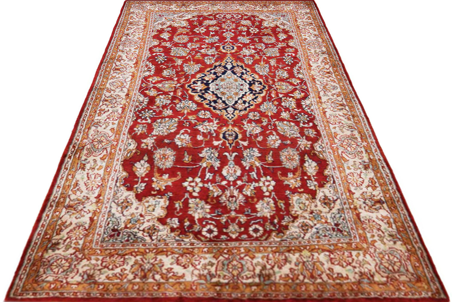 Shop Laal Kashan Carpet online : Silk area Carpets and Rugs
