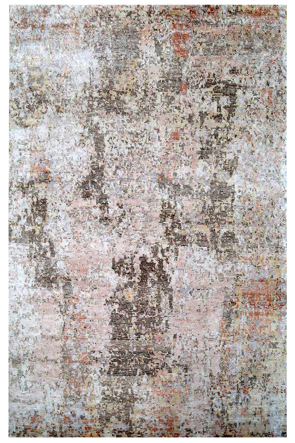 Abstract Paint Handmade Wool Rugs With Pure Material