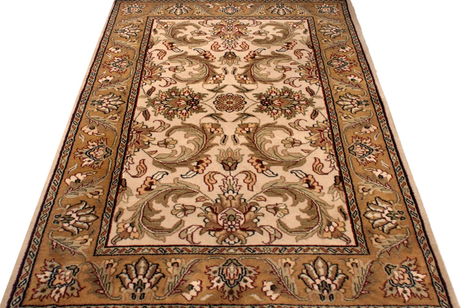 Shop Area Rugs Online And Beautiful Mughal Gold Wool Rugs