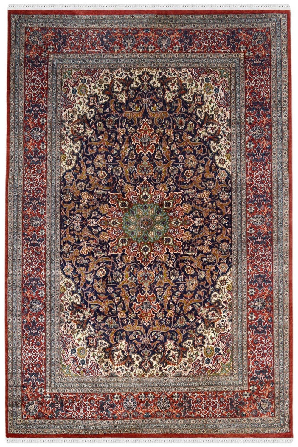 Buy Beautiful Neel Chakra Ardabil Wool Rugs And Carpet