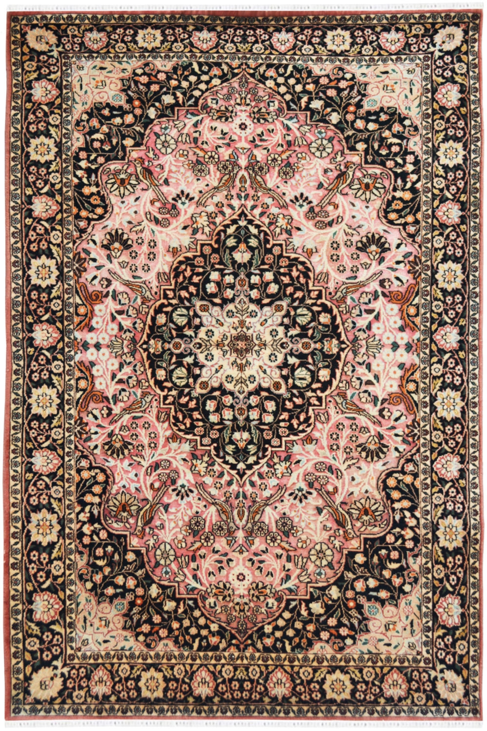 Wool Area Rug Pink Gumbh Traditional
