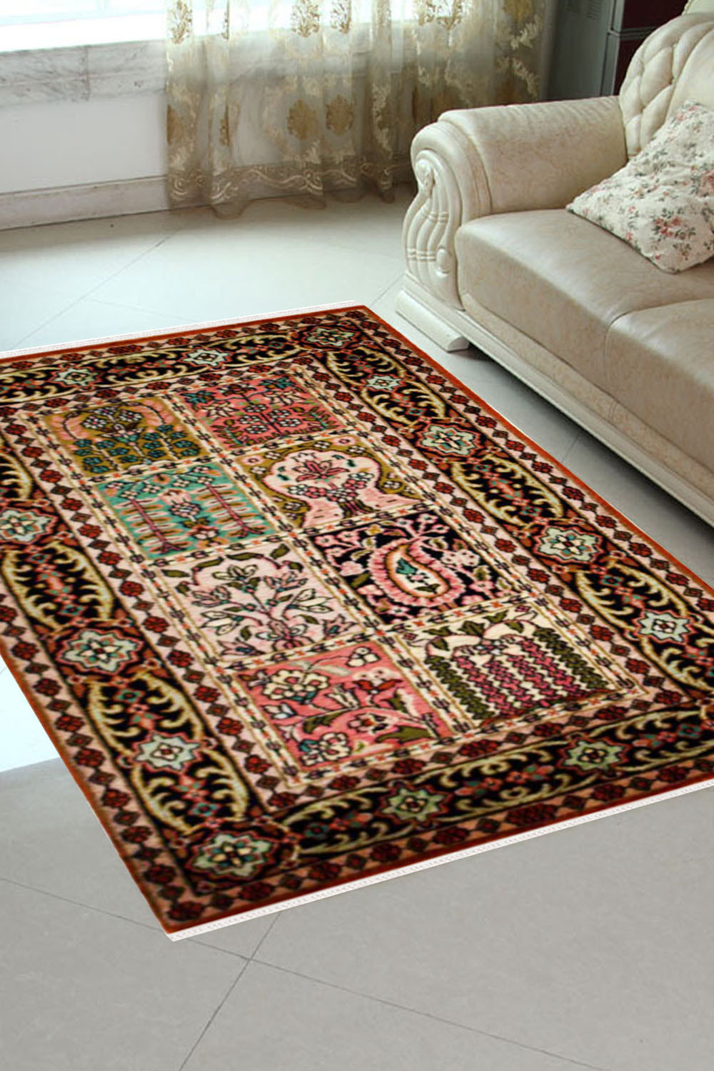 2x3 Small Qum Kashmiri Silk Carpets And Rugs Online At