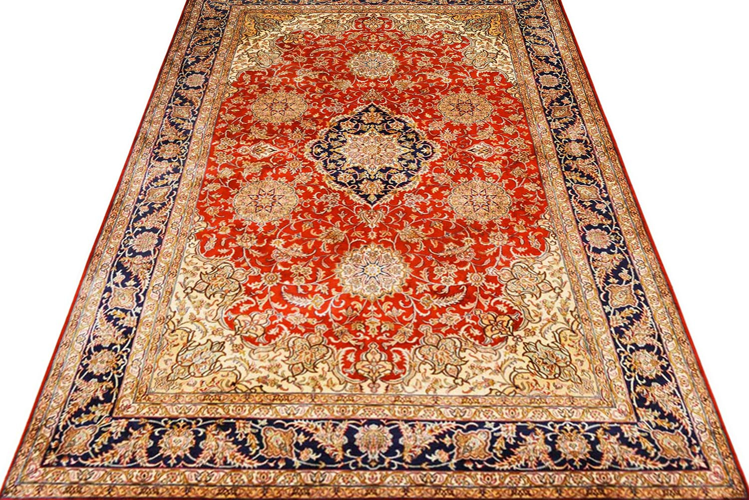 5x7 Raftar Kashan Silk Rug With Excellent Quality At Rugs