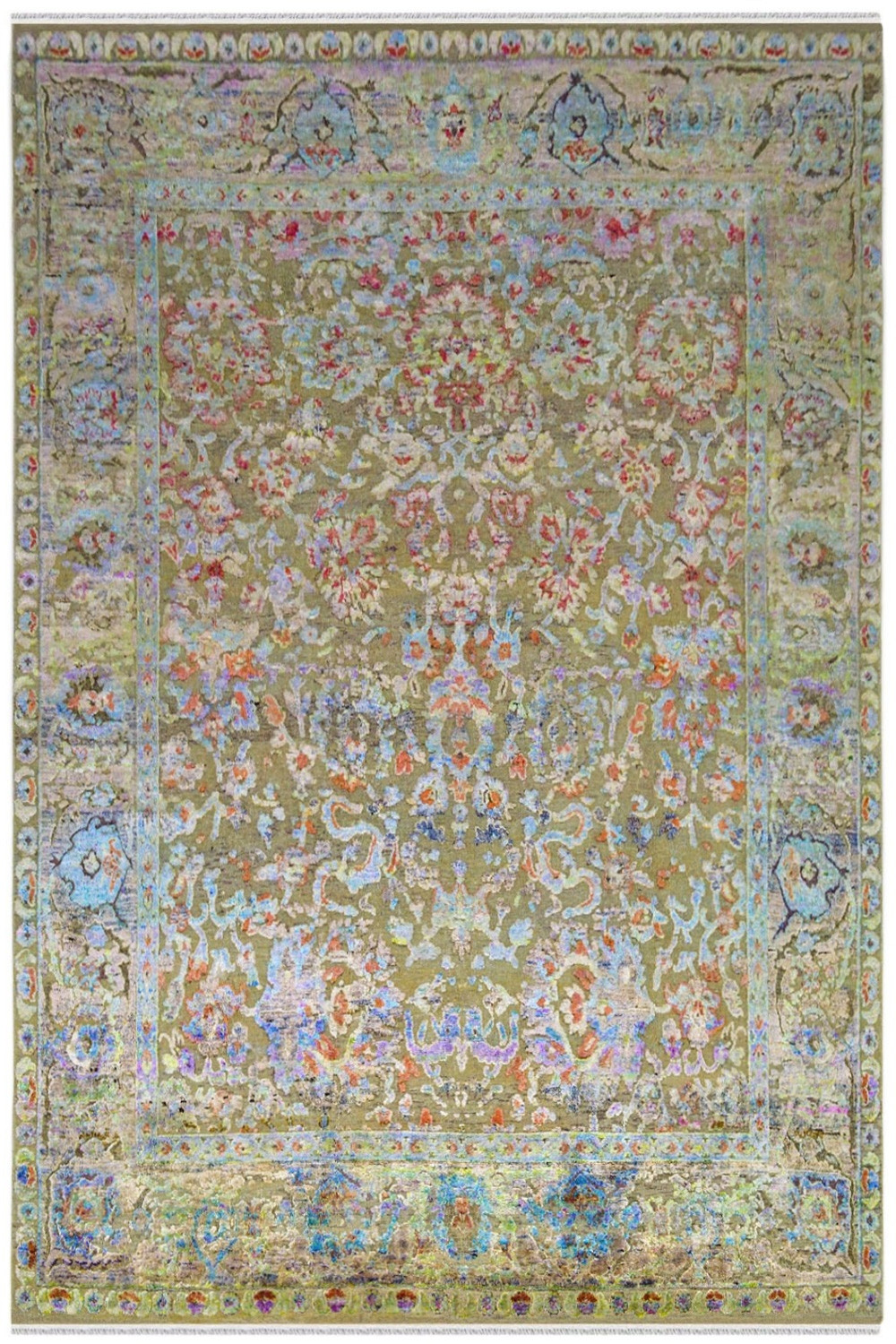 Shop Handmade Sari Silk Carpet With Finest Quality Sari Silk