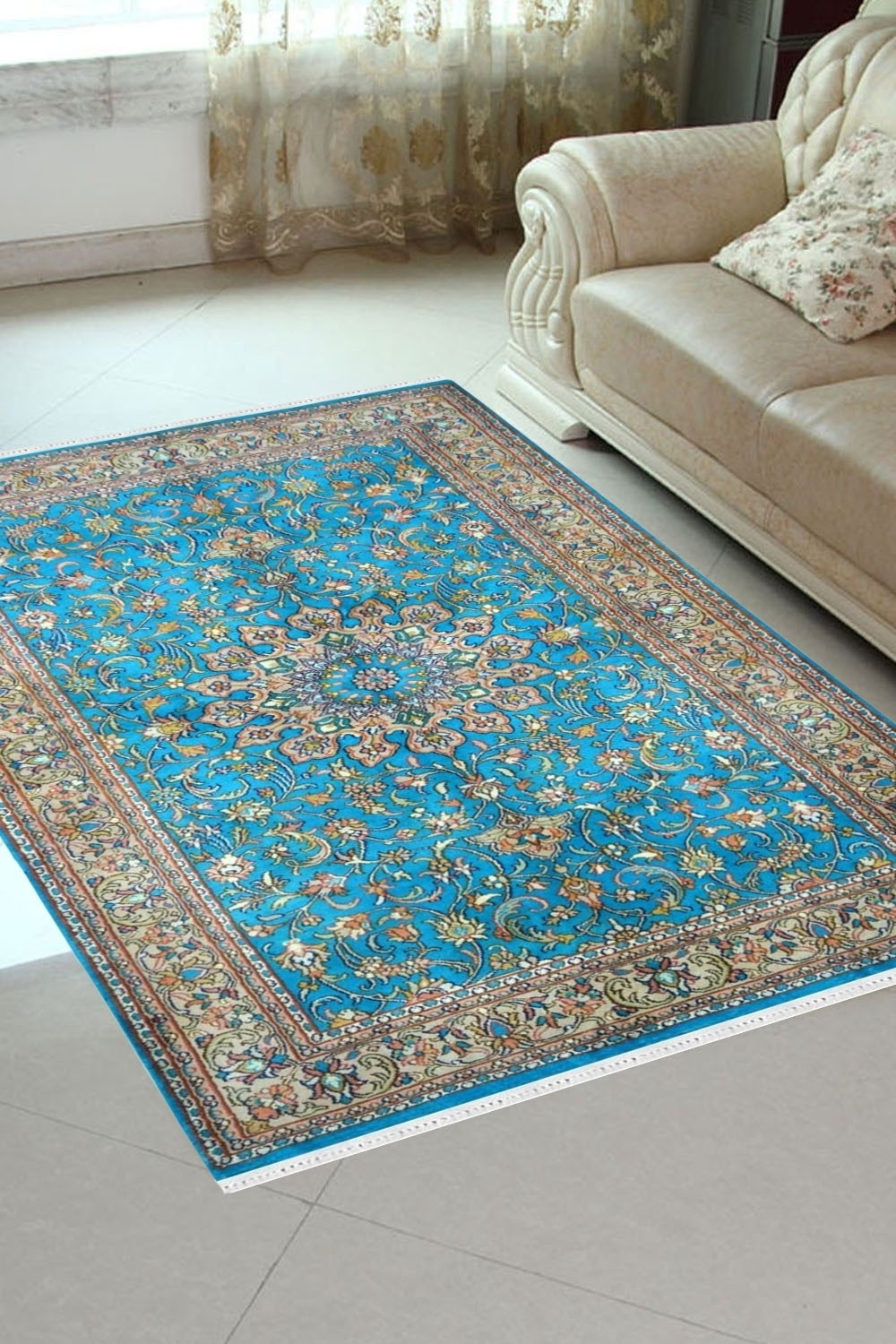 Turquoise Ardabil Rugs Kashmir Silk Rugs Rugs And Beyond
