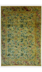 Fall Leaves Handknotted Woolen Carpet