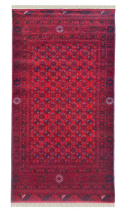 Ancient Tribal Bokhara Afghan Rug