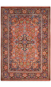 Rust Kashan 4 X 6 feet Silk Carpets India Area rug