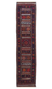 Abstract Camel Handmade Kilim Runner