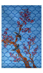 Birds in Heaven Woolen Area Rug