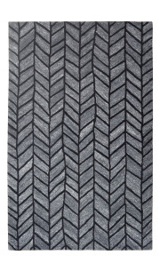 Charcoal Symmetry Modern Striped Rug
