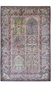 Panel Mirror Handmade Carpet