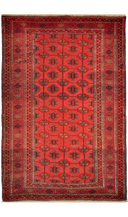 Tribal Bokhara Afghan Area Rug