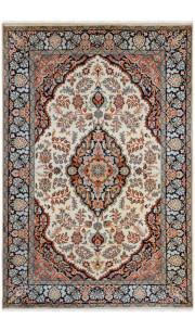 Diamond Cream Kashan Area Rug