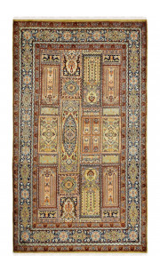Gold Qum Panel Handmade Rug