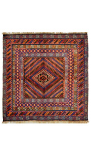 Turkish Geo Kilim Area Rug