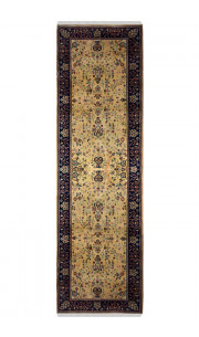 Gold Erased Handmade Wool Runner