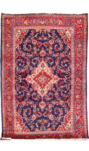 Blue Kashan Afghan carpet