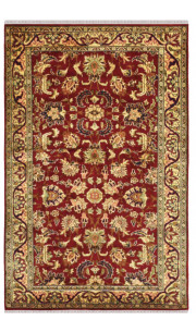 Applique Kashan Area Rug