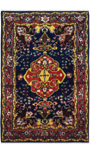 Oval Bagh Traditional Wool Area Rug