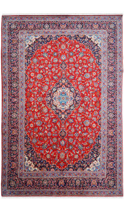 Rouge Afshar Handknotted Woolen Area Rug