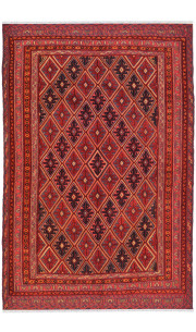 Caucasian Abstract Kilim Area Rug