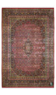 Salmon Bidjar Beautiful Handknotted Large Wool Rug