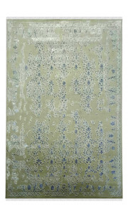 Green Ground Handmade Wool Area Rug