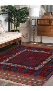 Jaali Abstract Kilim Area Rug