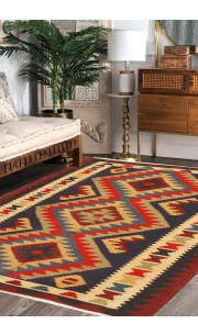 Needle Work Kilim Area Rug