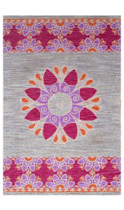 Summer Rangoli Transitional Area Rug