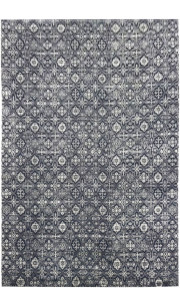 Charcoal Box Modern Handknotted Large Area Rug