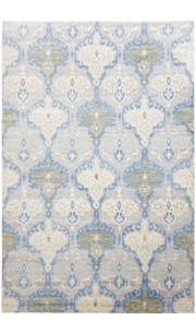 Floral Bunch Handknotted Modern Area Rug
