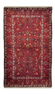 Pure Wool Traditional Rust Afghan Area Rug