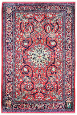 Floral Chandelier Silk Carpet