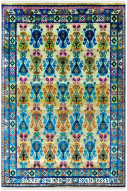 Ambi Tiles Sari Silk Area Rug