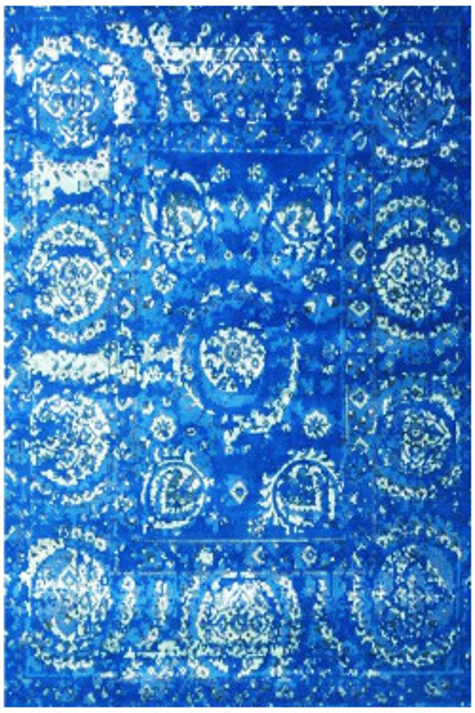 Cobalt Blue Chakra Modern Area Rug