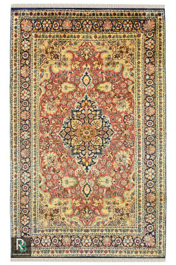 Rouge Jewel Moti Handmade Silk Carpet
