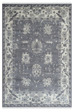 Cinq Star Gray Handmade Area Carpet