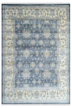 Cloudy Gray Sky Monochrome Rug
