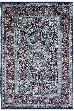Kashmir Wool 4 by 6 Indian handknotted Woolen Rug