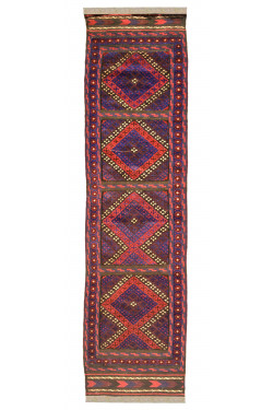 Triple Motifs Afghan Carpet