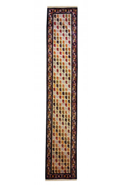 Abstract Une Afghan Area Rug Runner