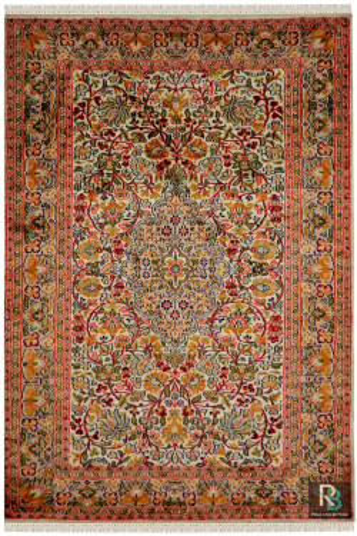 Gulab Medallion Kashan Silk Area Rug