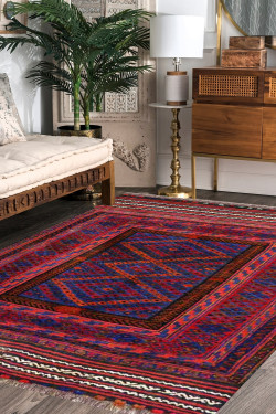 Abstract Kilim Area Rug