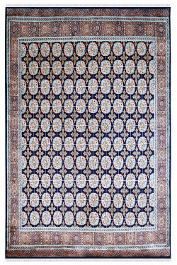 Blue Bokhara Medium Size Handmade Silk Area rug