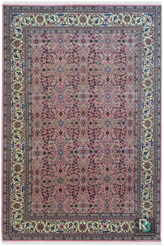 Pink Lilian Handmade wool rug