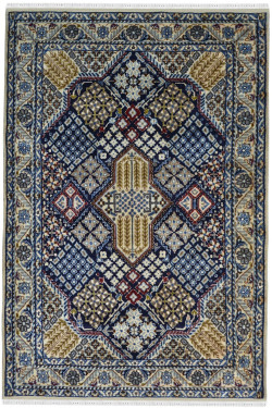 Blue Diamond Afghan Handmade Carpet